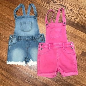 Cat & Jack overalls! Pink & denim size 6/6x